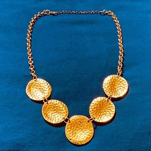 Gold Hammered Necklace
